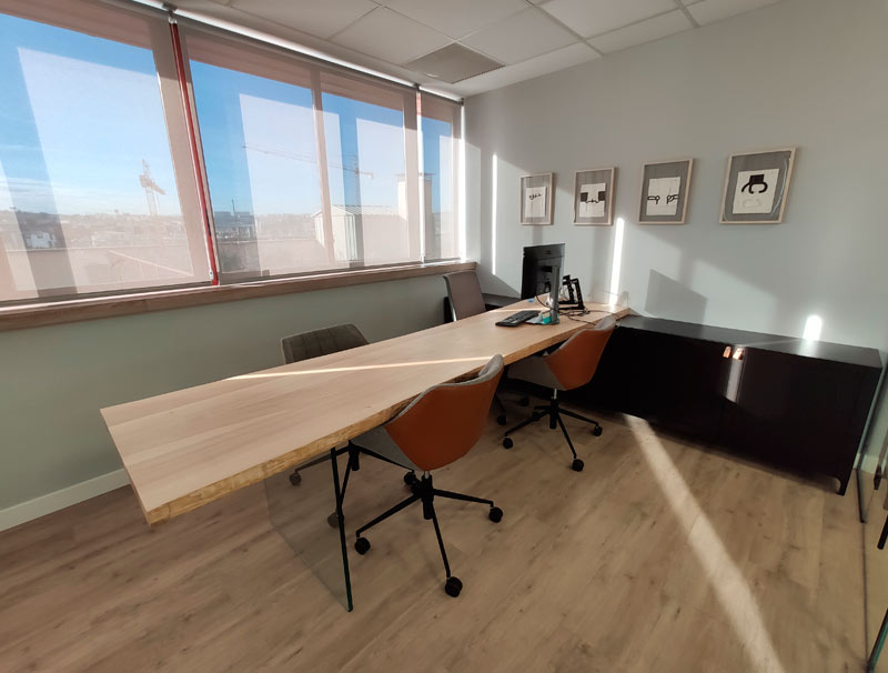 Workplace at the Alor offices in Madrid Alcobendas